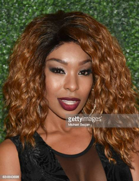 Porscha Coleman arrives at Primary Wave Hosts Their 11th Annual Pre-Grammy In Partnership With Smirnoff Vodka at The London West Hollywood on...