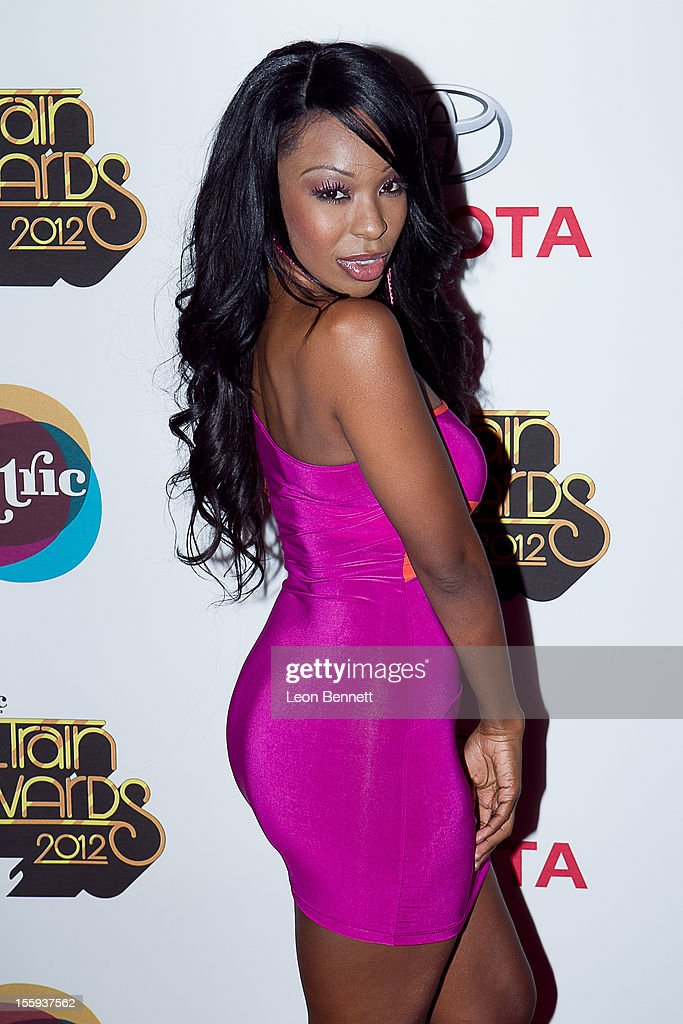 Porscha Coleman arrives at the Soul Train Awards 2012 - Arrivals at Planet Hollywood Casino Resort at on November 8, 2012 in Las Vegas, Nevada.