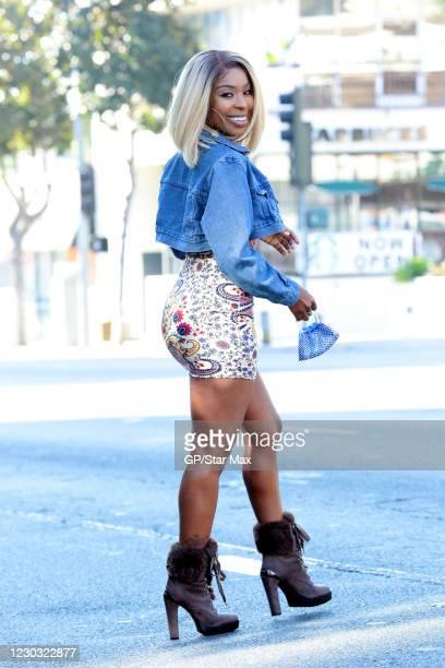 Porscha Coleman is seen on December 27, 2020 in Los Angeles, California.