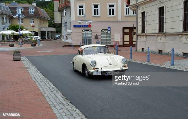 Porsche 356 in the '6th EbreichsdorfClassic' oldtimer rally at Markt Piesting on September 2 2017 in Markt Piesting Austria