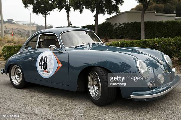 Porsche 356 Outlaw stands during the Friends of Steve McQueen Car Show Rally from Malibu to Santa Barbara California US on Saturday May 14 2016...