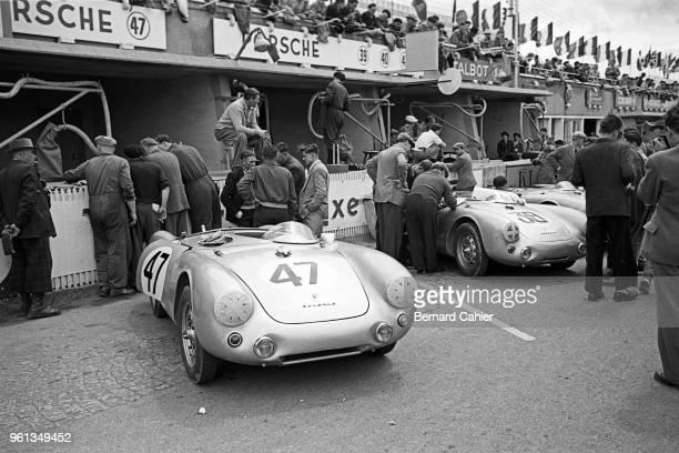 Porsche 550 Spyder, 24 Hours of Le Mans, Le Mans, 13 June 1954.