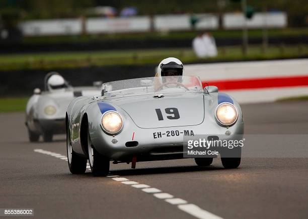 Porsche 550A RS driven by entrant Claudio Roddaro in the Madgwick Cup at Goodwood on September 8th 2017 in Chichester England