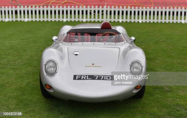 Porsche 718 RSK recreation on display at London Concours 2018 at Honourable Artillery Company on June 7 2018 in London England