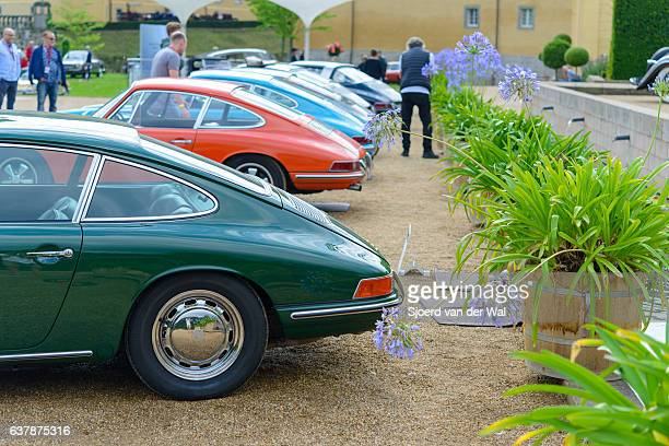 "porsche 911 and porsche 912 classic sports cars - ""sjoerd van der wal"" stock pictures, royalty-free photos & images"
