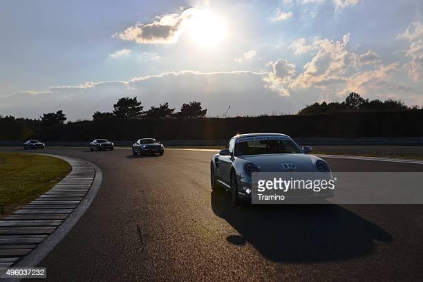Porsche 911 at the racetrack