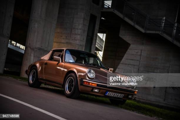porsche 911 carrera 2 cabrio - porsche stock pictures, royalty-free photos & images