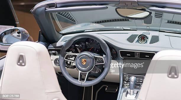 Porsche 911 Carrera 4 Cabriolet sports car interior