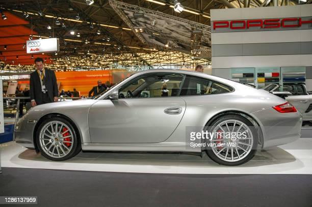 Porsche 911 Carrera on display at Amsterdam motor show AutoRAI on February 9, 2005 in Amsterdam, The Netherlands.