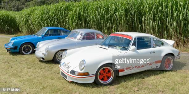 porsche 911 carrera rs, porsche 356 and porsche 911 - concours stock photos and pictures