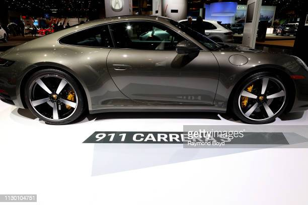 Porsche 911 Carrera S is on display at the 111th Annual Chicago Auto Show at McCormick Place in Chicago, Illinois on February 7, 2019.