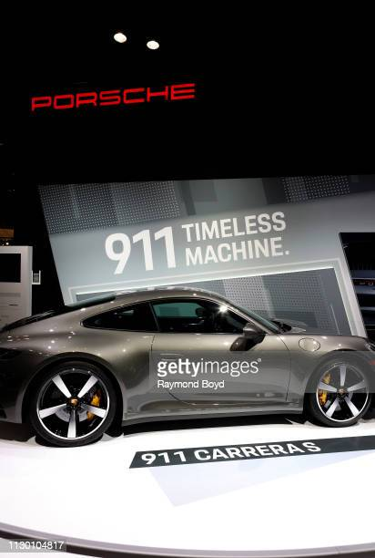 Porsche 911 Carrera S is on display at the 111th Annual Chicago Auto Show at McCormick Place in Chicago Illinois on February 7 2019