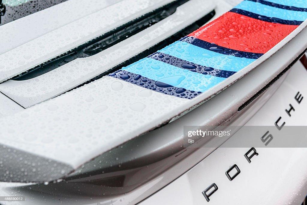 Porsche 911 Carrera S spoiler Rückansicht : Stock-Foto