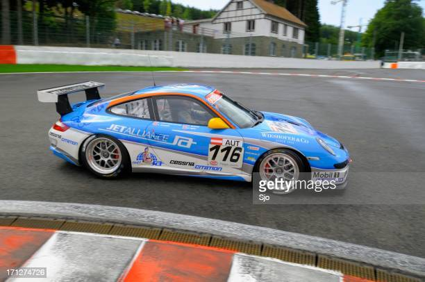 Porsche 911 GT3 Cup race car at the race track