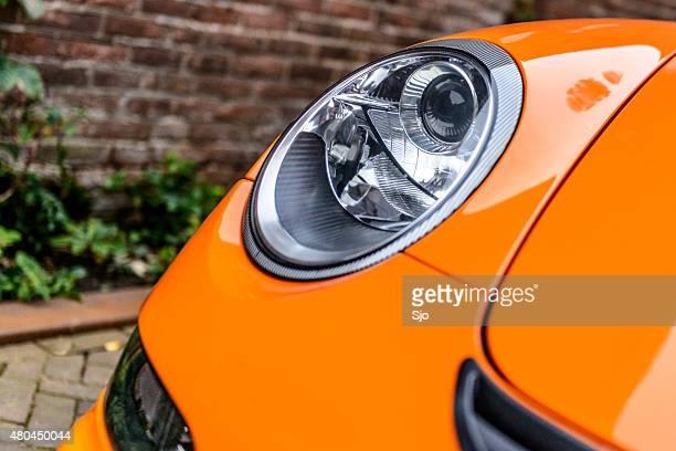 Porsche 911 GT3 RS headlight front detail