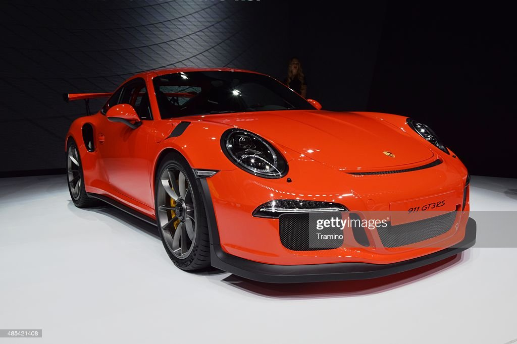 Porsche 911 GT3RS on the motor show : Stock Photo