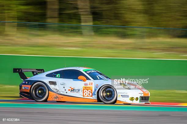 porsche 911 gulf racing race car - porsche carrera stock photos and pictures