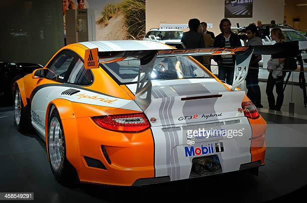 porsche 911 hybrid race car - porsche stock pictures, royalty-free photos & images