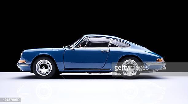 Porsche 911 Model Car Against Black