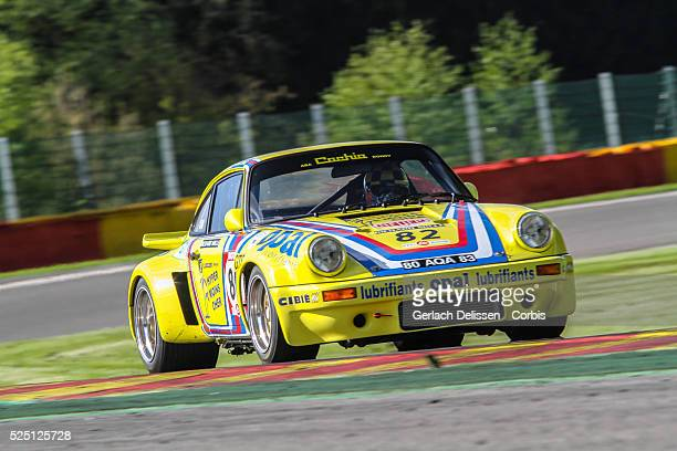 Porsche 911 RSR 30L classic car in action during SpaCLassic May 25th 2013 at SpaFrancorchamps Circuit in Belgium
