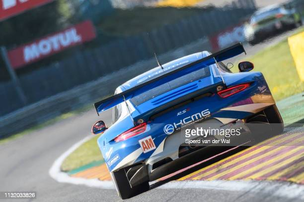 Porsche 911 RSR race car driven by C RIED / W HENZLER / J CAMATHIAS on track during the 6 Hours of SpaFrancorchamps race the second round of the 2016...