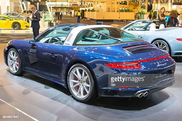 Porsche 911 Targa 4S sports car rear view