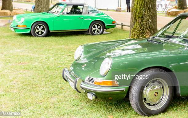 "porsche 911 targa vintage classic sports car front - ""sjoerd van der wal"" or ""sjo"" stock pictures, royalty-free photos & images"
