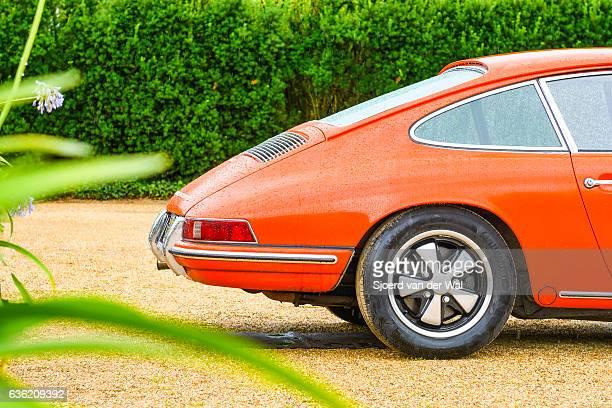 Porsche 911 vintage classic sports car rear end