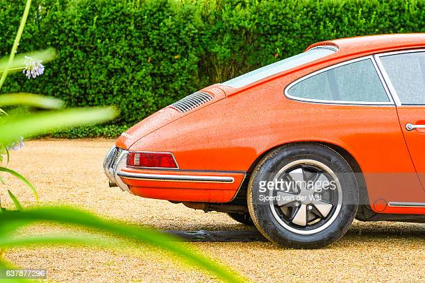 "porsche 911 vintage classic sports car rear - ""sjoerd van der wal"" stock pictures, royalty-free photos & images"