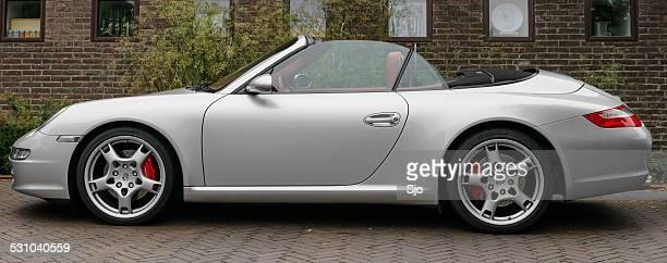 Porsche 911Convertible abierto sports car vista lateral