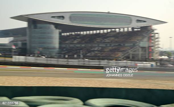 Porsche 919 Hybrid from the team of Timo Bernhard of Germany, Mark Webber of Australia and Brendon Hartley of New Zealand, takes part in the 2016 FIA...