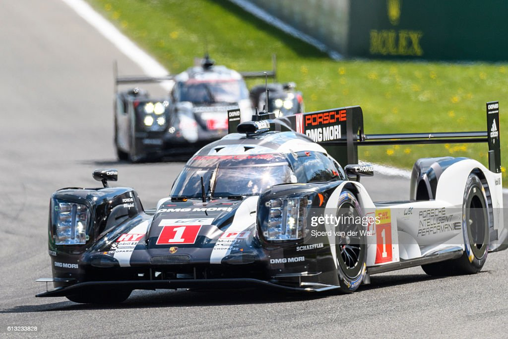 Porsche 919 Hybrid race cars at Spa Francorcahmps : Stock Photo