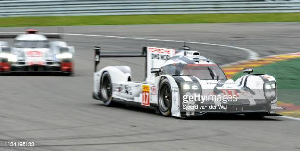 Porsche 919 Hybrid sportsprototype racing car driven by BERNHARD T WEBBER MHARTLEY B on track during the 6 Hours of SpaFrancorchamps race the second...
