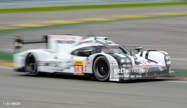 Porsche 919 Hybrid sportsprototype racing car driven by DUMAS R JANI N LIEB M in Les Combes during the 6 Hours of SpaFrancorchamps race the second...