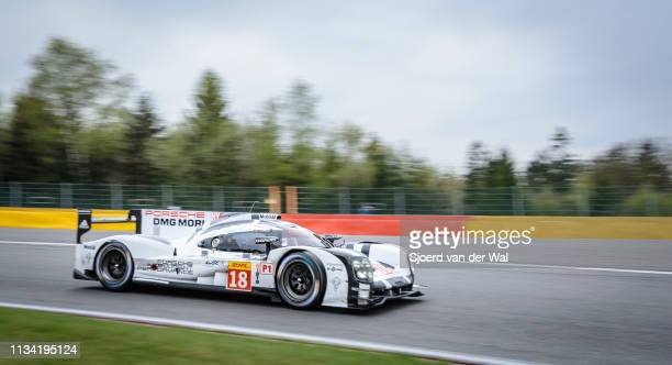 Porsche 919 Hybrid sportsprototype racing car driven by DUMAS R JANI N LIEB M on track during the 6 Hours of SpaFrancorchamps race the second round...
