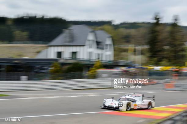 Porsche 919 Hybrid sportsprototype racing car driven by DUMAS R JANI N LIEB M in Eau Rouge during the 6 Hours of SpaFrancorchamps race the second...