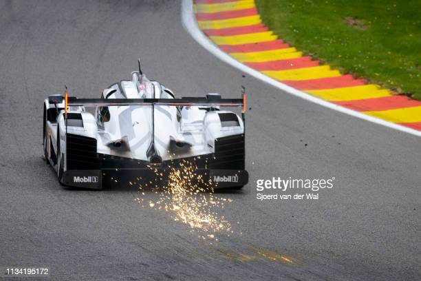 Porsche 919 Hybrid sportsprototype racing car on track during the 6 Hours of SpaFrancorchamps race the second round of the 2015 FIA World Endurance...