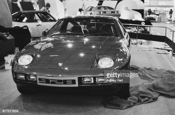 Porsche 928 displayed at the British International Motor Show, in Birmingham for the first time, UK, 18th October 1978.