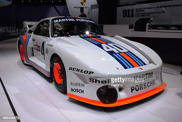 porsche 935 martini on the motor show - rally car racing stock pictures, royalty-free photos & images