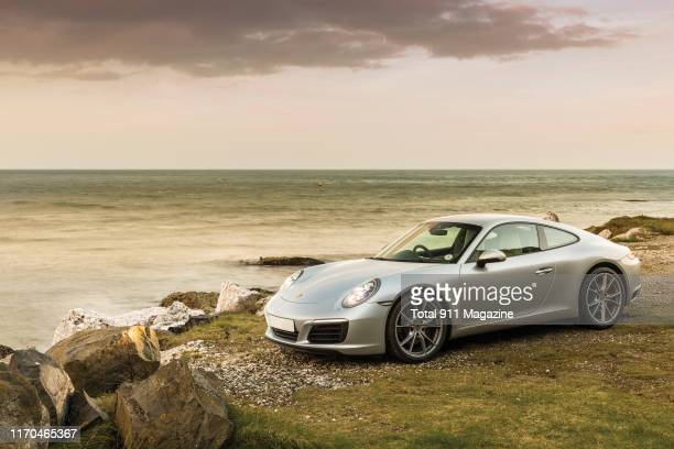 Porsche 9912 Carrera sports car photographed on the coast around County Antrim in Northern Ireland on April 17 2018