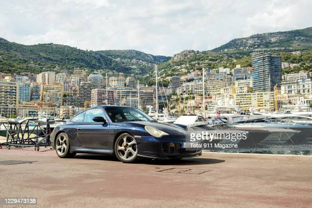 Porsche 996 C4S sports car photographed at the marina in Monaco, taken on September 6, 2019.