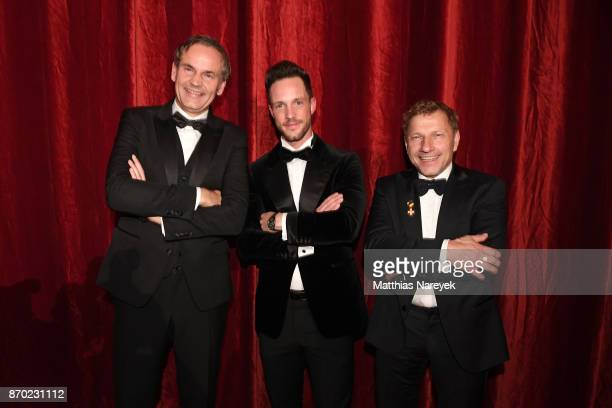 Porsche AG Oliver Blume Daniel Fuchs and Richy Mueller attend the Leipzig Opera Ball on November 4 2017 in Leipzig Germany