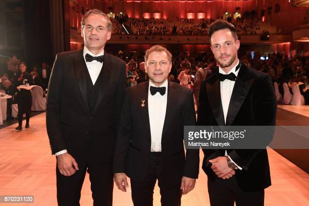 Porsche AG Oliver Blume Richy Mueller and Daniel Fuchs attend the Leipzig Opera Ball on November 4 2017 in Leipzig Germany