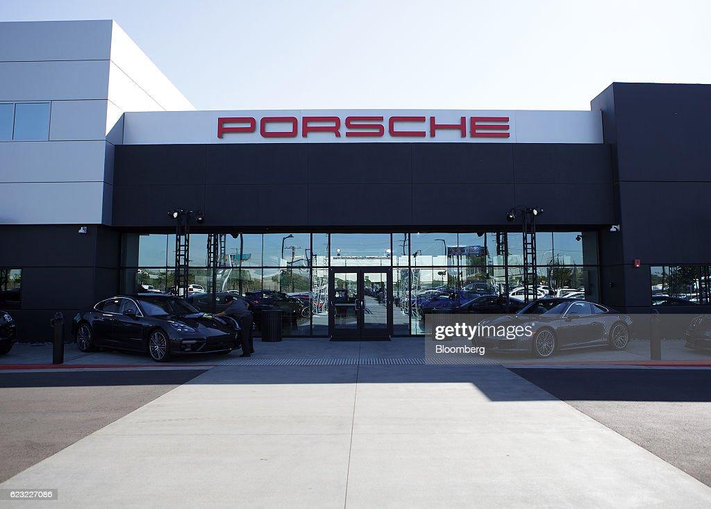 Porsche Experience Center >> Porsche Ag Vehicles Sit Outside The Porsche Experience
