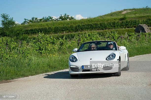 Porsche Boxster (Typ 981) on an italian country road