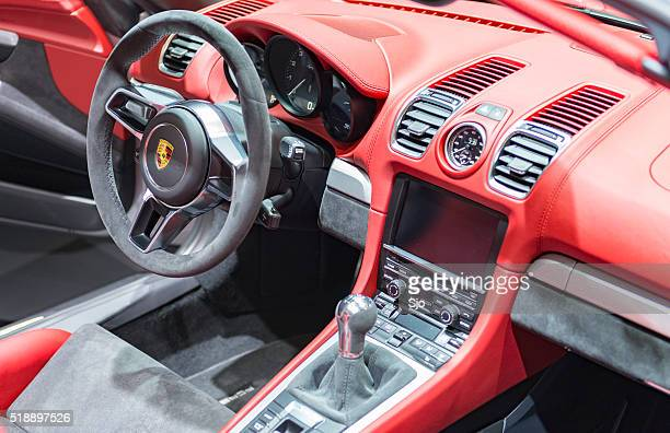 Porsche Boxster Spyder open sports car interior