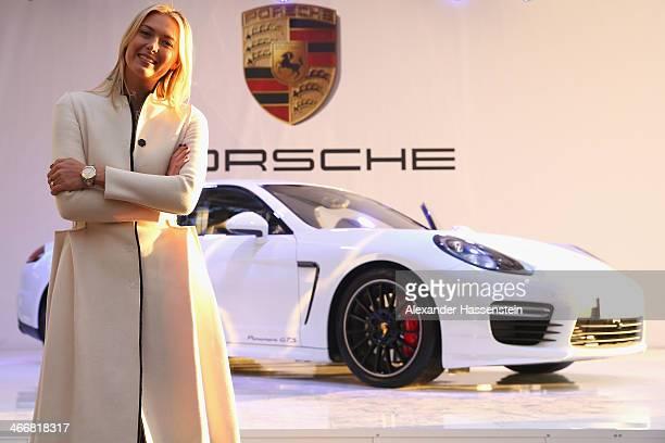 Porsche Brand Ambassador Maria Sharapova attends the presentation of her personalised 'Panamera GTS by Maria Sharapova' in her hometown of Sochi on...