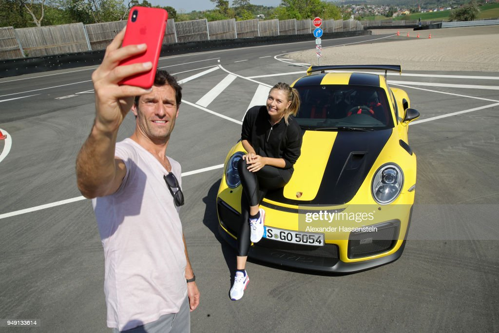 Maria Sharapova and Mark Webber Drive A Porsche 911 RT2 RS