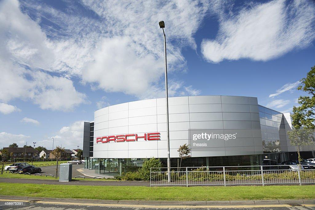 Porsche Car Dealership, Glasgow : Stock Photo