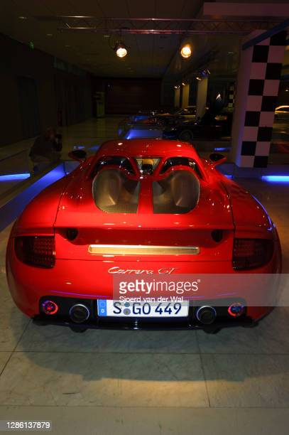 Porsche Carrera GT on display at Amsterdam motor show AutoRAI on February 9, 2005 in Amsterdam, The Netherlands.